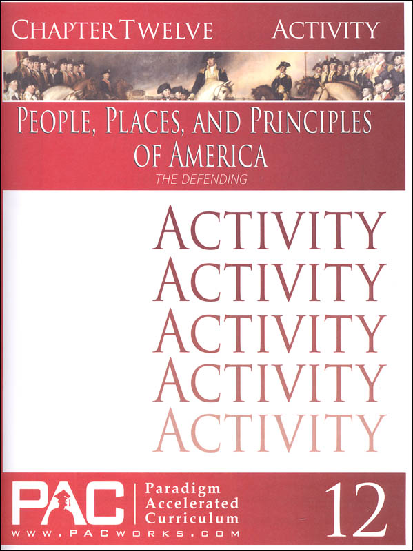 People Places & Principles of America Chapter 12 Activities (Year 2)