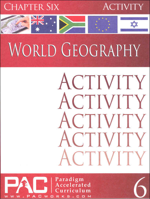 World Geography - Chapter 6 Activities