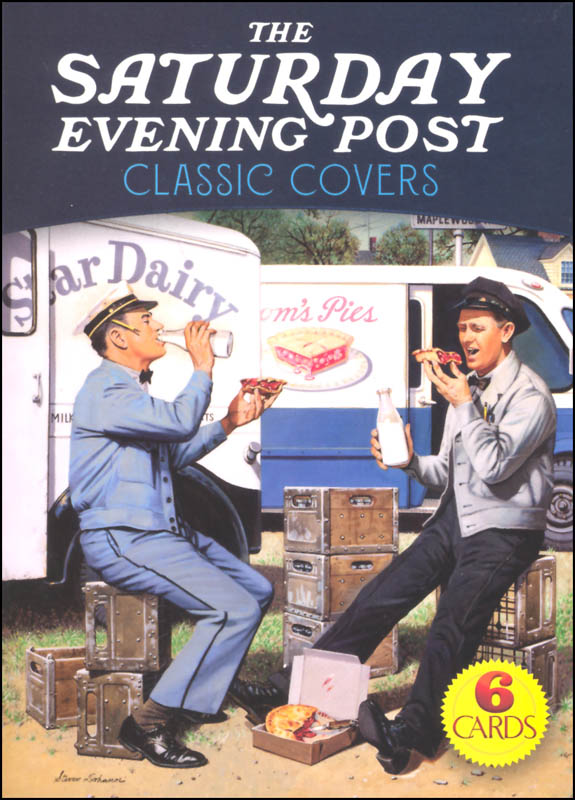Saturday Evening Post Classic Covers Art Postcard Book