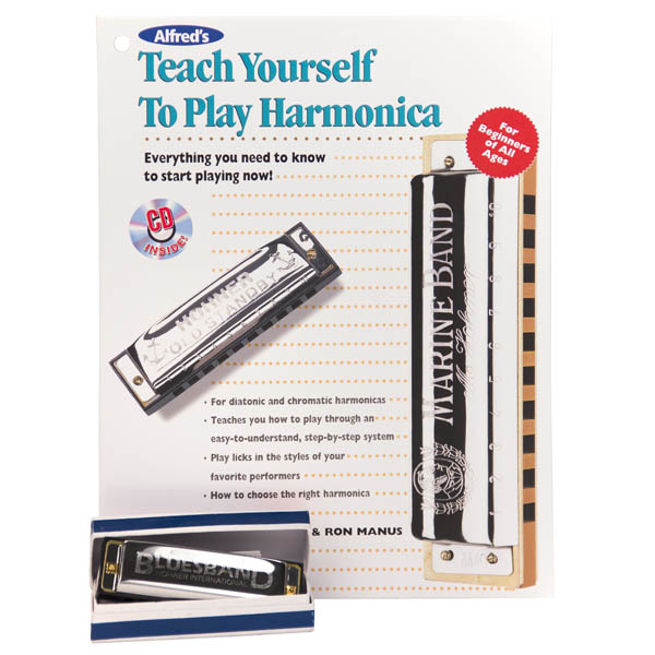 Teach Yourself to Play Harmonica Book, CD and Harmonica Set