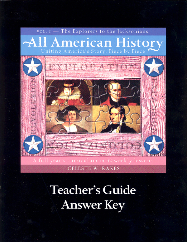 All American History Vol 1 Tchr Gde/Ans Key