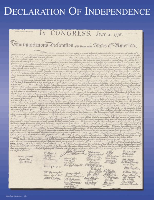 Declaration of Independence Learning Chart