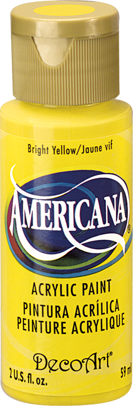 Americana Acrylic Paint 2 oz Brite Yellow