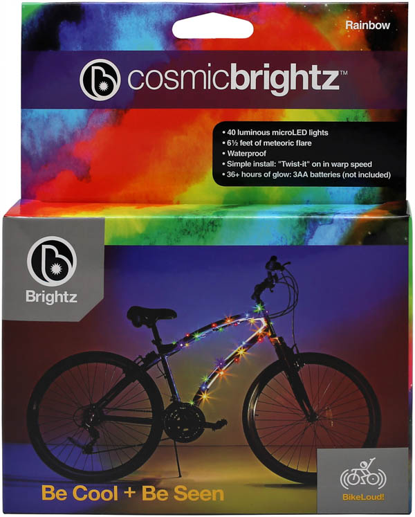 Cosmic Brightz Bike Wrap - Rainbow