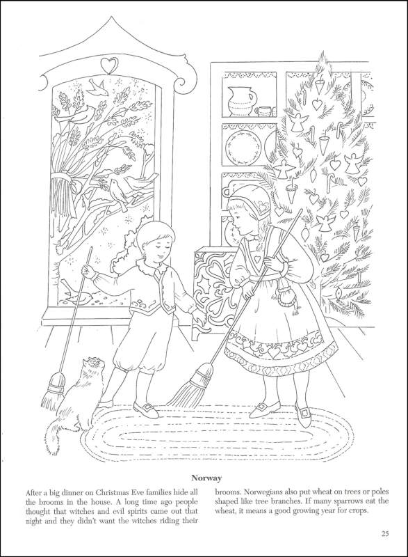 - Christmas Around The World Coloring Book Dover Publications  9780486426518