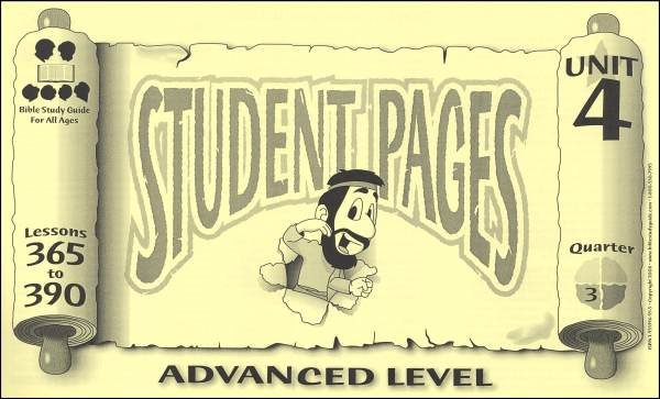 Advanced Student Pages for Lessons 365-390
