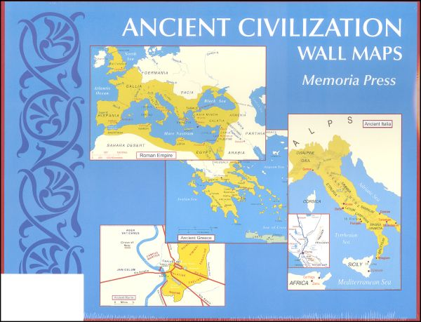 "Ancient Civilizations Wall Maps (11"" x 17"")"
