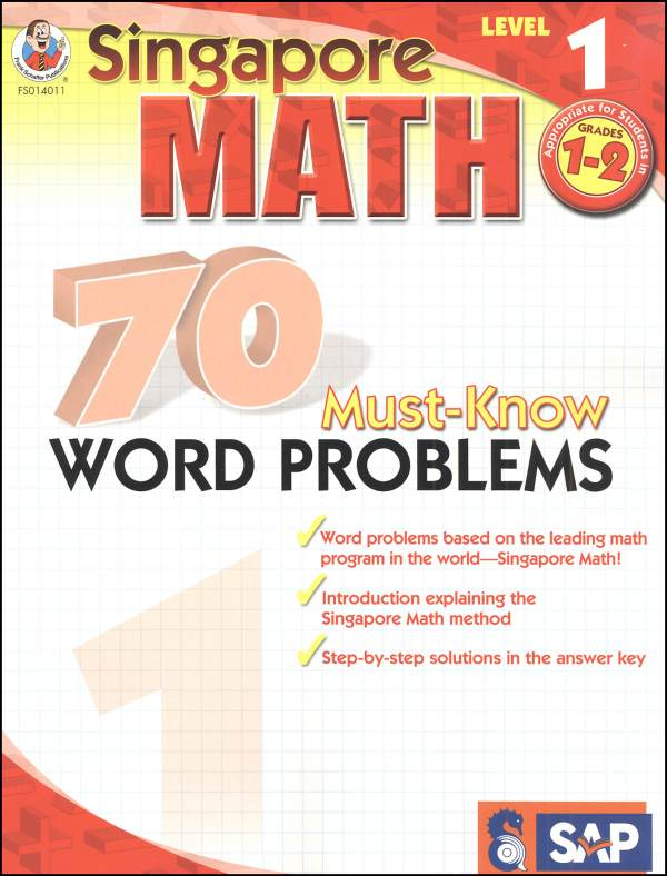 Singapore Math: 70 Must-Know Word Problems, Level 1