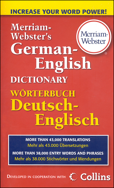 Merriam-Webster's German-English Dictionary (Mass-Market Paperback)