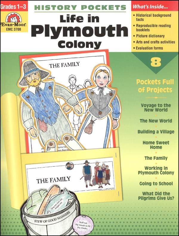 History Pockets - Life in Plymouth Colony