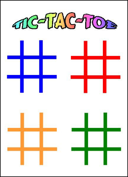 Tic Tac Toe (4 x 6 Laminated Write and Wipe Game Board)