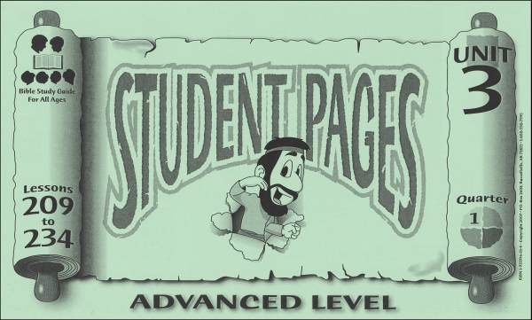 Advanced Student Pages for Lessons 209-234