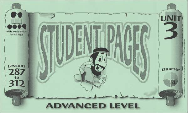 Advanced Student Pages for Lessons 287-312