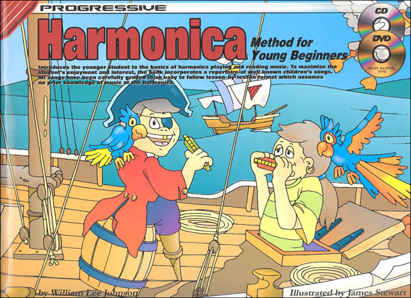 Harmonica for Young Beginners with CD & DVD