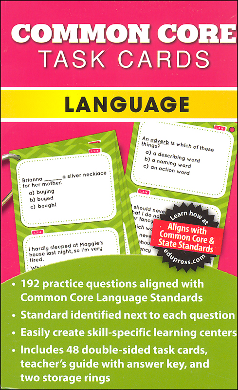 Common Core Language Task Cards Grade 3