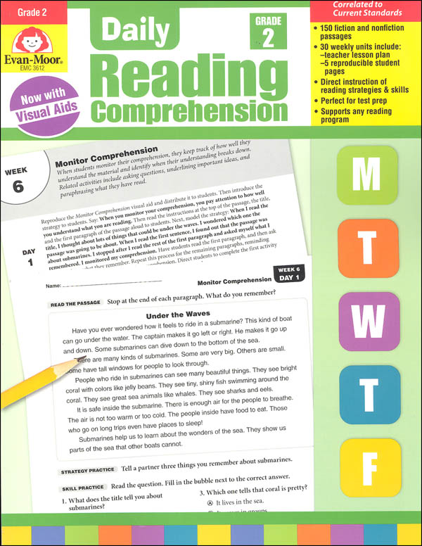 Daily Reading Comprehension Grade 2 Evan-Moor 9781629384757