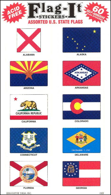 State Flags Stickers