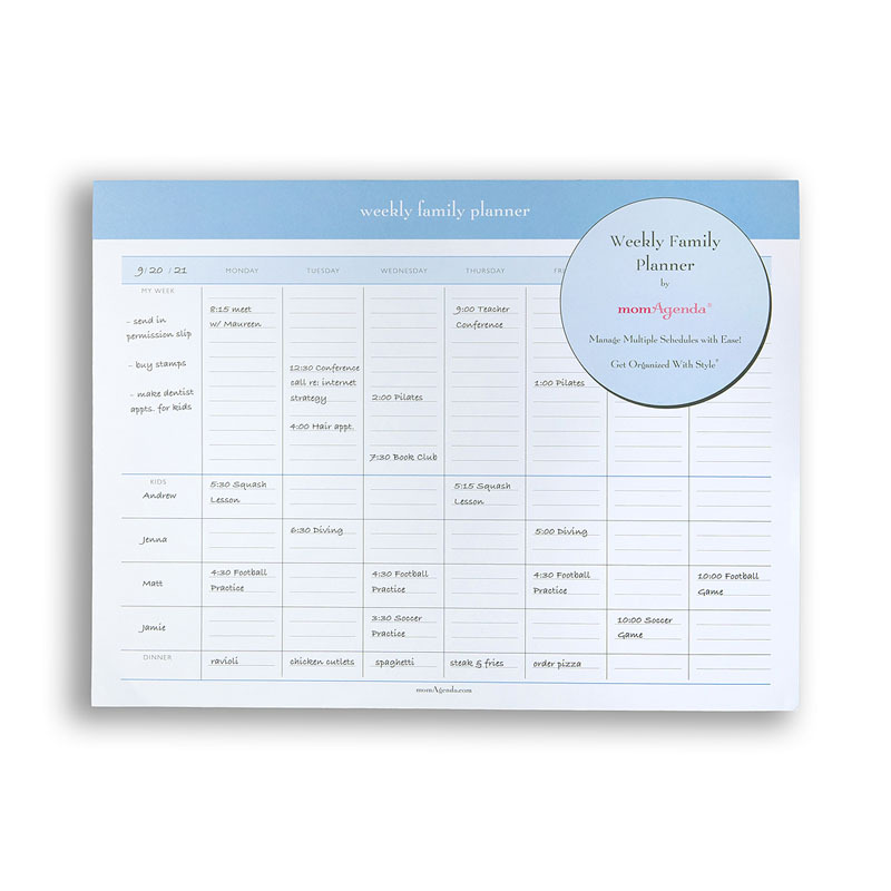 Weekly Family Planner Pad