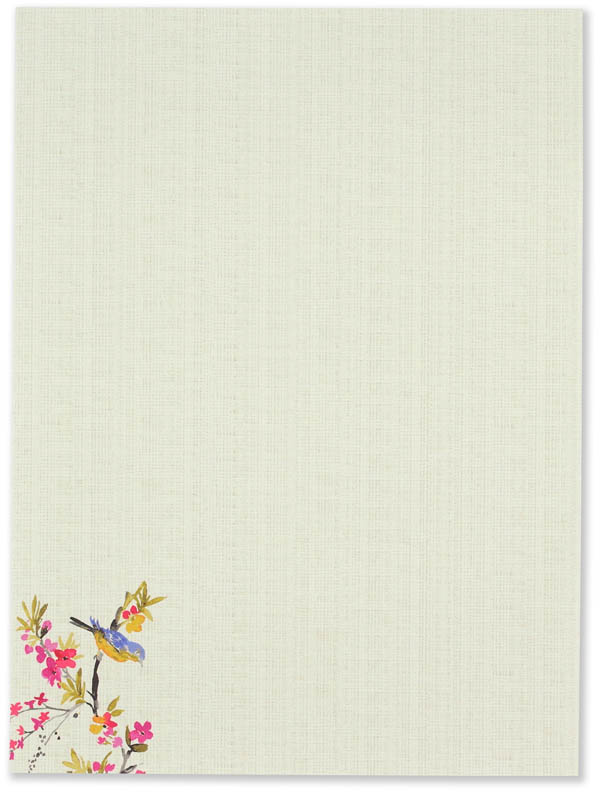 Blossoms and Bluebirds Stationery Set