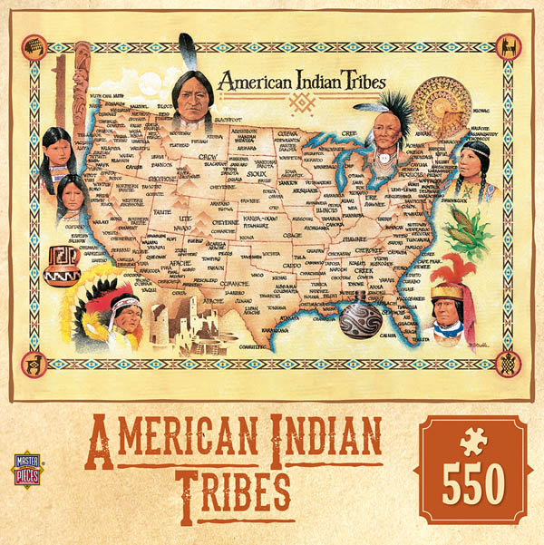American Indian Tribes Puzzle (550 Pieces)