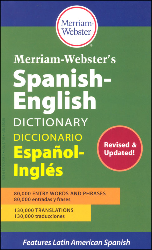 Merriam-Webster's Spanish-English Dictionary
