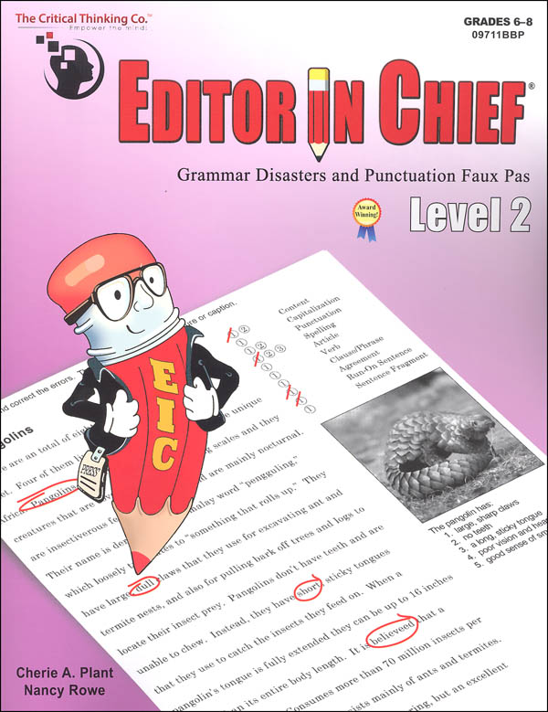 Editor in Chief Level 2 (B1-B2 Combined)