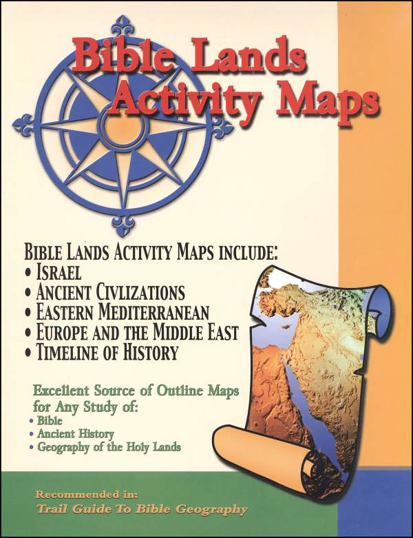 Bible Lands Activity Maps - Paper