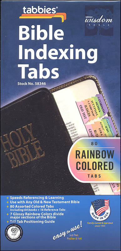 Standard Rainbow Bible Tabs