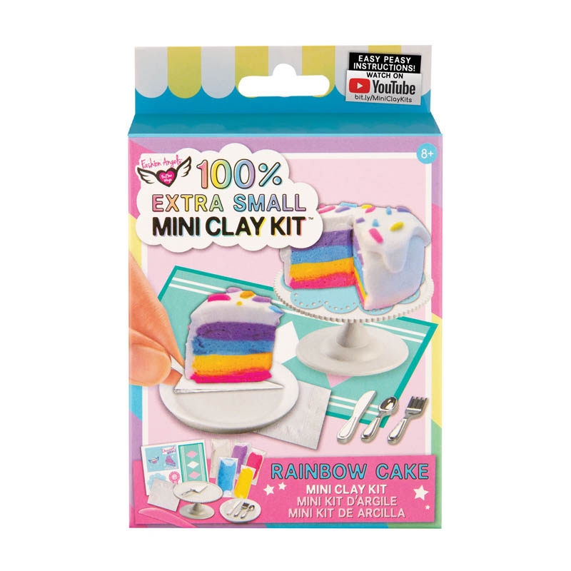 100% Extra Small Mini Clay Kit - Rainbow Cake