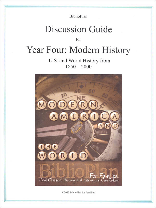 BiblioPlan Modern Discussion Guide