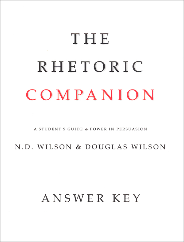 Rhetoric Companion Answer Key