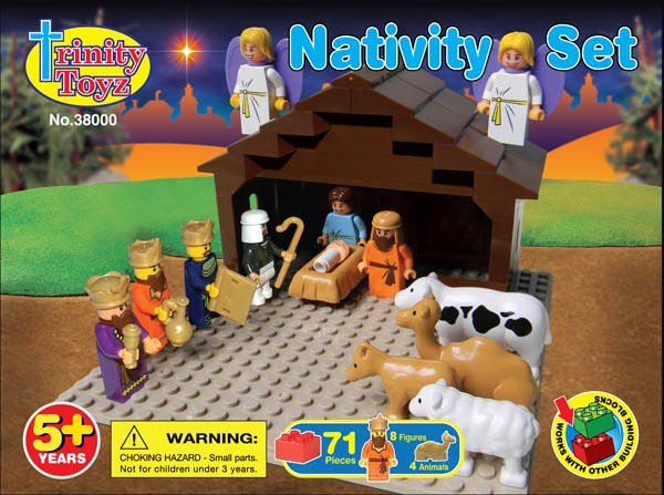 Nativity Scene Construction Block Set