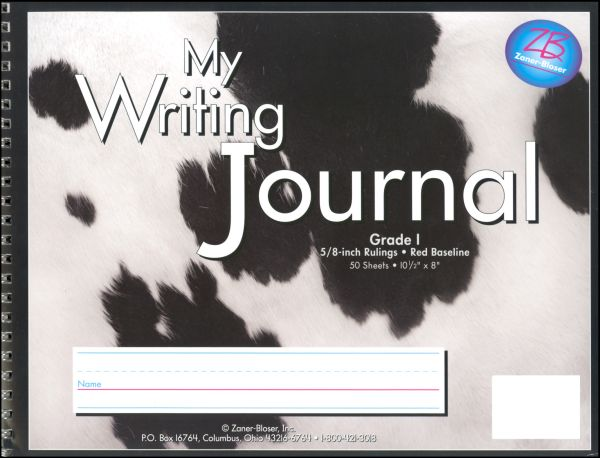 Writing Journal - Spotted Cow Print - Grade 1