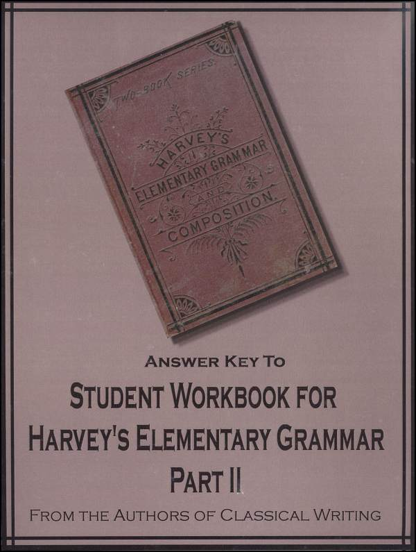 Harvey's Elementary Grammar Part 2 Answer Key