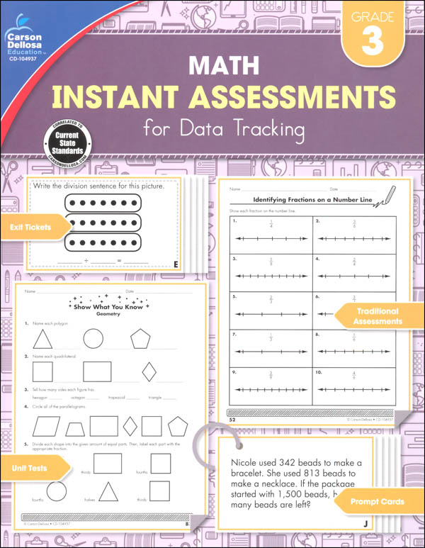Math Instant Assessments for Data Tracking - Grade 3