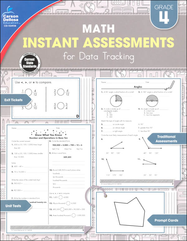 Math Instant Assessments for Data Tracking - Grade 4