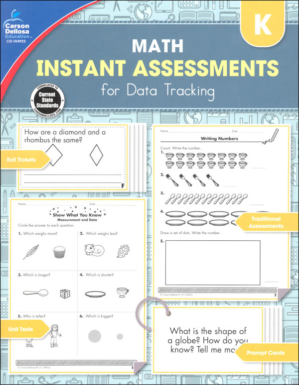 Math Instant Assessments for Data Tracking - Kindergarten