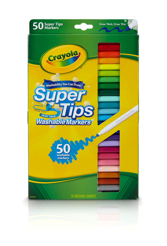 Crayola Super Tips Washable Fine Line Markers 50 Count