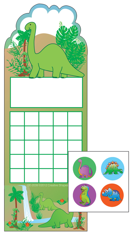 Dinosaur Personal Incentive Charts and Stickers