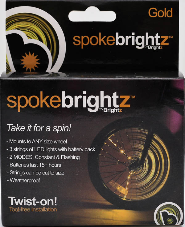 Spoke Brightz Bike Light - Gold