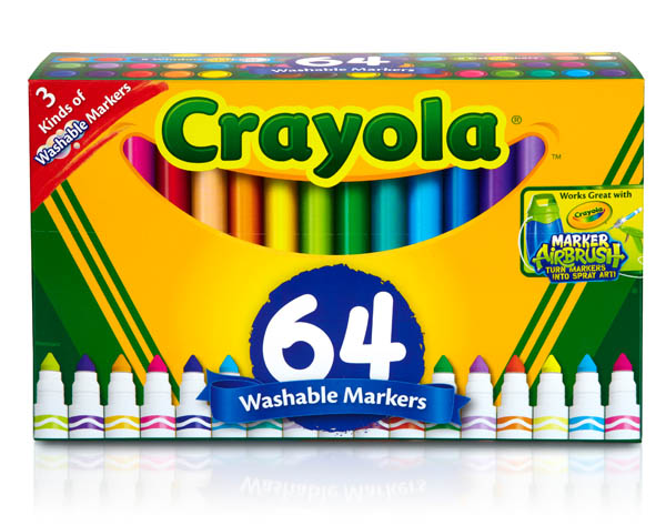Crayola Washable Broad Line Markers 64 count