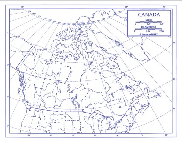"Canada Map Paper single (8+"" x 11"")"