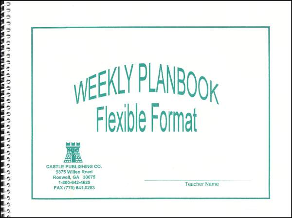 Weekly Lesson Plan Book Flexible Format