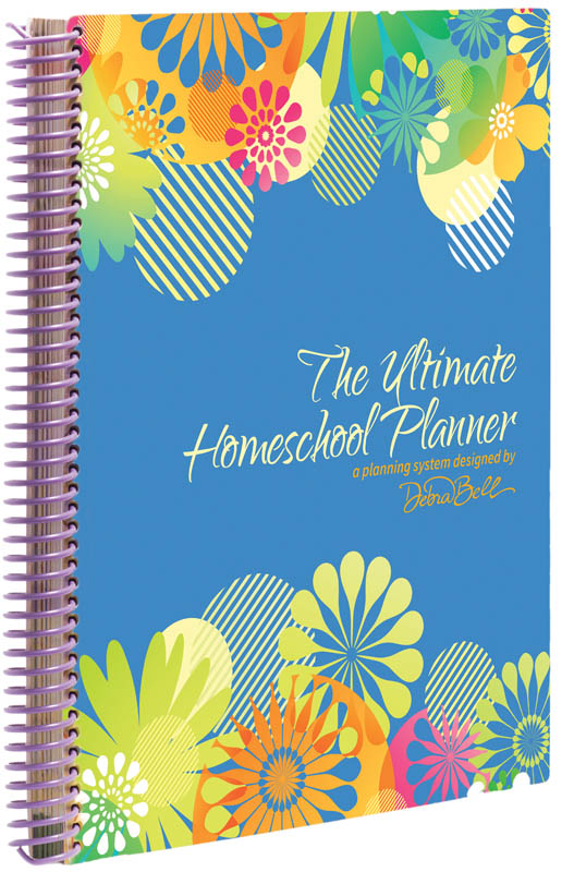 Ultimate Homeschool Planner with Blue Floral Cover