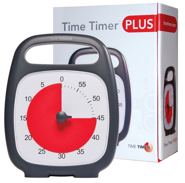 "Time Timer Plus (5.5"" x 7"" clock with built-in handle)"