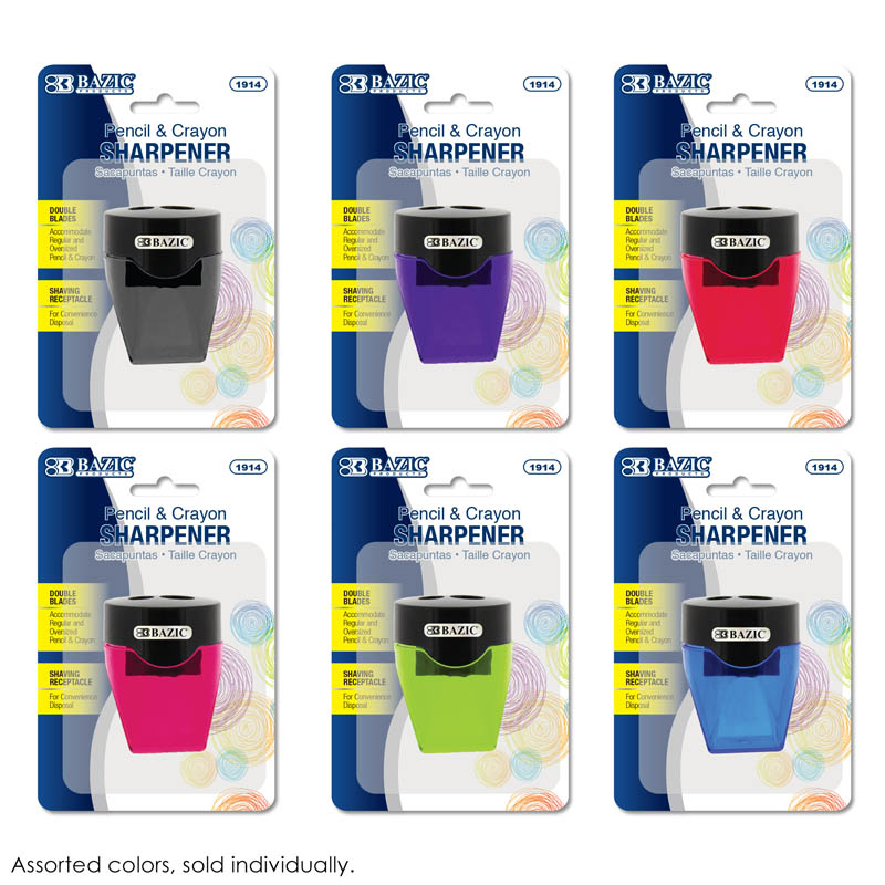 Dual Blades Sharpener with Diamond Receptacle (assorted color)