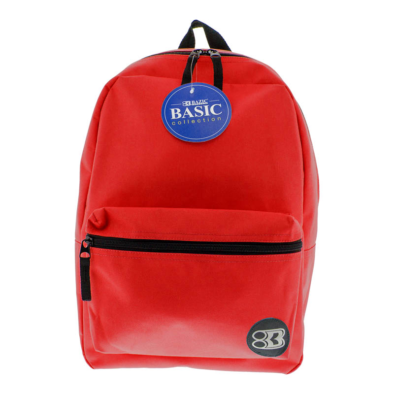 Red Basic Backpack 16""