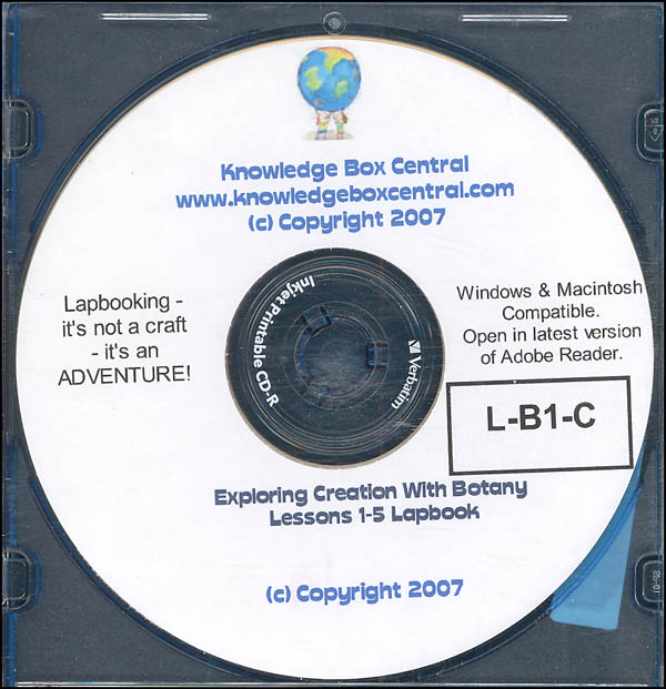 Apologia Exploring Creation with Botany Lapbook for Lessons 1-5 CD-ROM