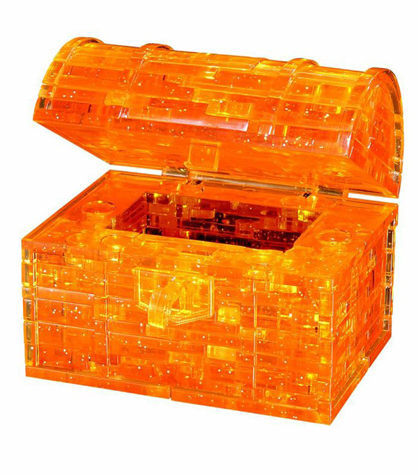 3D Crystal Puzzle - Gold Treasure Chest