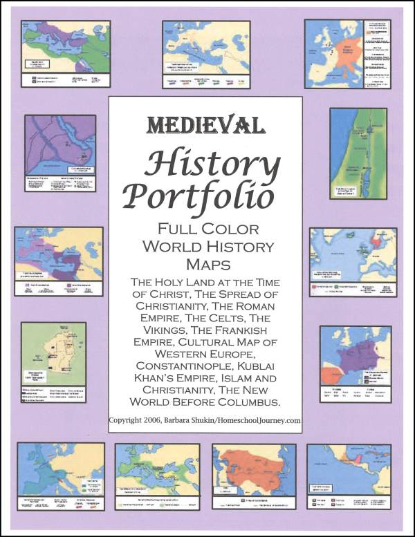 Medieval History Portfolio Full Color Maps